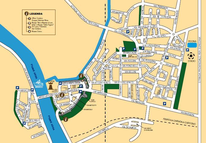 Cartina del paese pro loco pizzighettone for Mappa della costruzione di casa